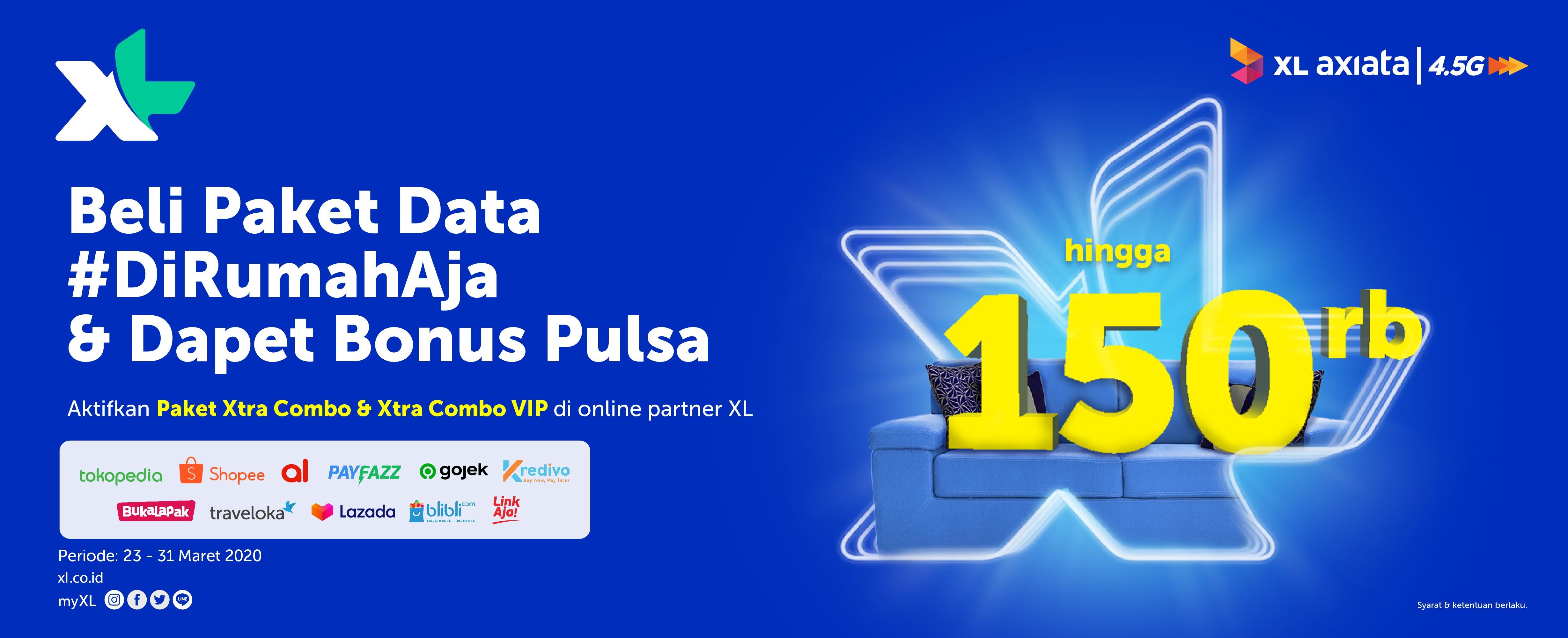 Promo Xl Bonus Pulsa Hingga 150 Ribu